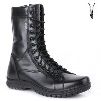 demiseason genuine leather lace up black army ankle boots men high shoes flat military boots 0054/11 WA