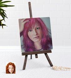 Personalized Women 'S Artistic Portrait Design Şovaleli Natural Taş-9