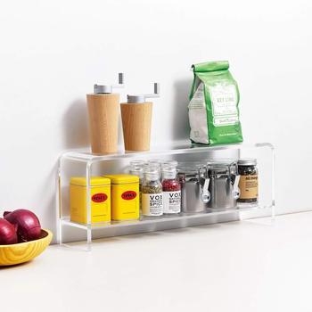 LUGUNU Spice Rack Condiment Holder Acrylic Rack For kitchen Desktop Shelf Kitchen Rack Storage Counter