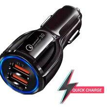 Chargeur de voiture adaptateurs pour téléphone avec charge rapide et double sortie USB charge rapide double USB 3.0 filaire MICRO USB ou Type C