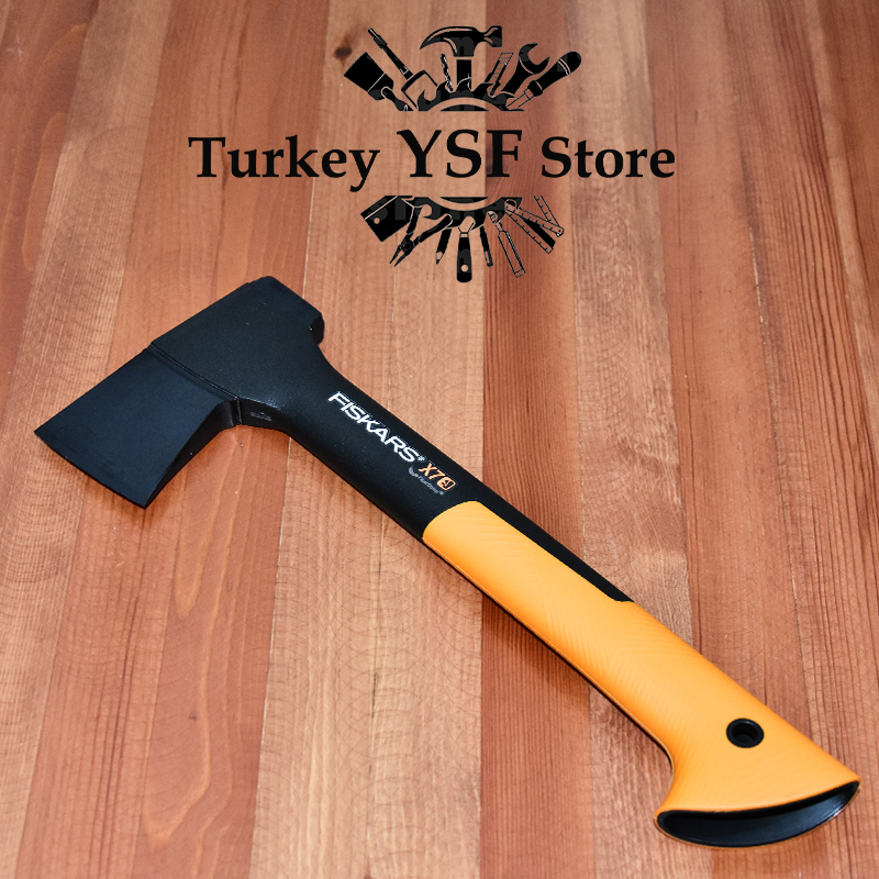 Fiskars Chopping Ax XS X7 Hatchet Survival Tools Ax  Shredding Axe Original High Quality Plastic Case Easy To Carry