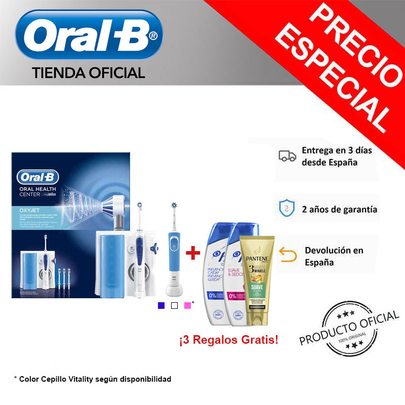 Oral-B MD20 Oxyjet Irrigator Oral Vitality 100 Cleaning Toothbrush Dental Dental Water MD20 Irrigator Oral Portable