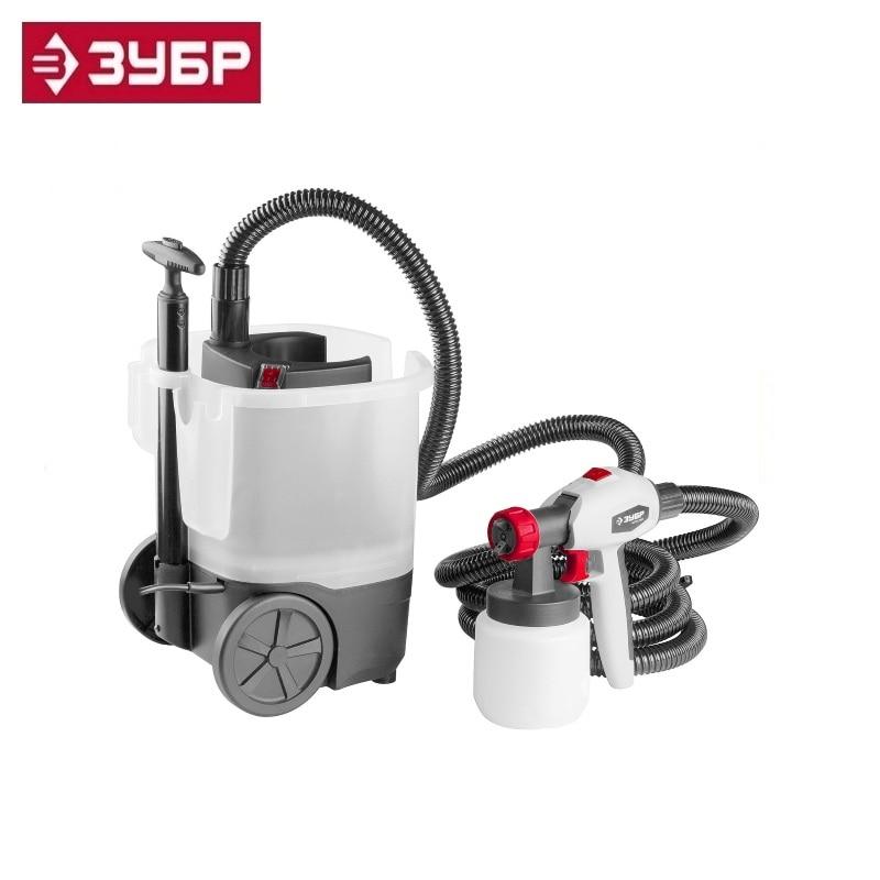 цена на Spray gun (paint sprayer) electric, ZUBR KPE-750, HVLP, 0.8l, spray gun 0-800ml / min, paint viscosity 100 DIN / s, nozzle 2.6mm