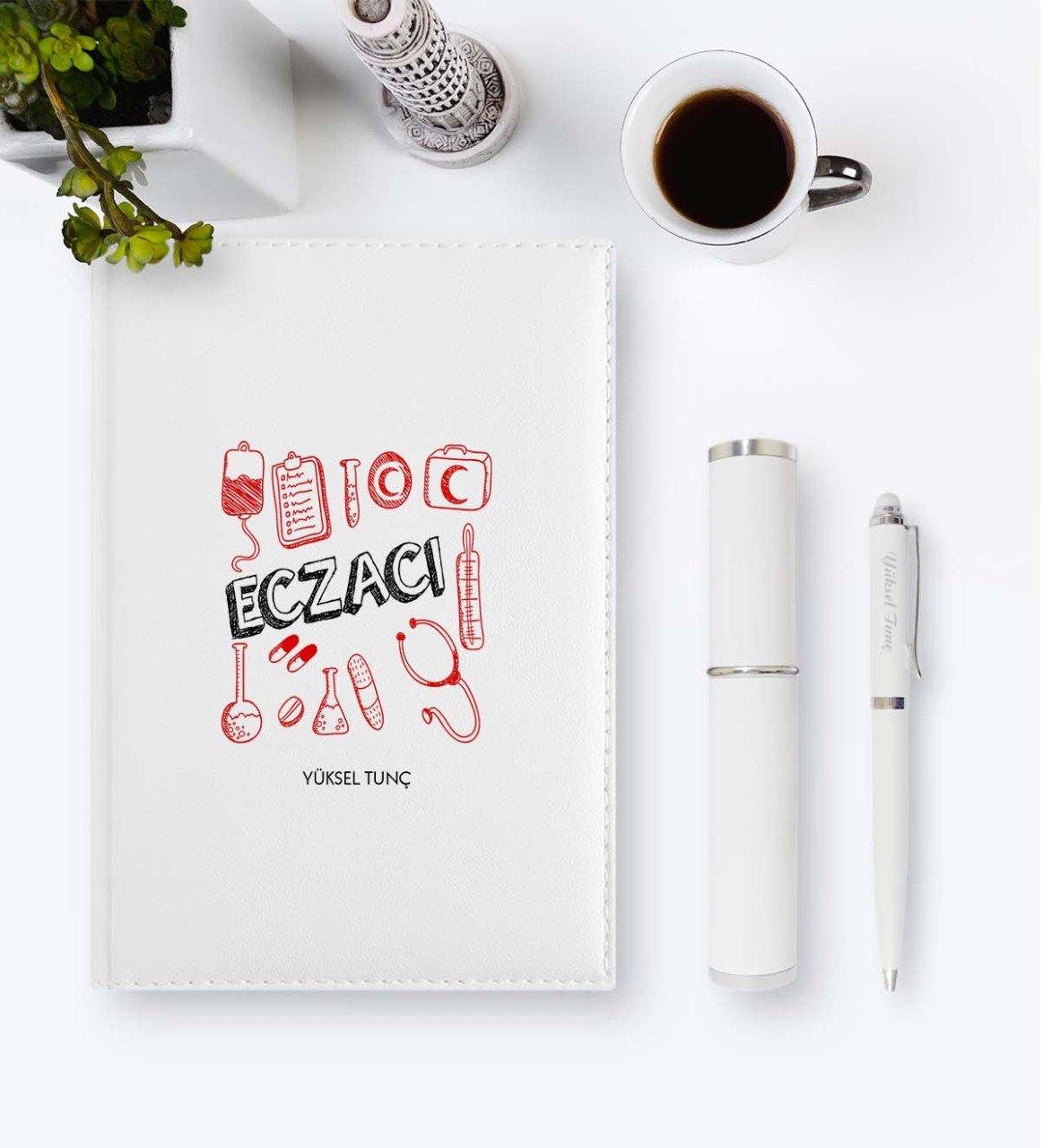 Personalized Professional Pharmacist 2020 Leather Organizer & Pen Gift Set-2