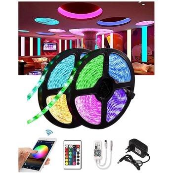 цена на 5050 SMD LED Light Strip Flexible Ribbon Waterproof 5M RGB Light Strip DC 12V 24-Key/44-Key IR/WiFi  Remote Control Adapter