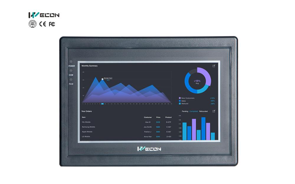 Wecon 7inch Hmi Panel Built In SCADA Software Easy To Study