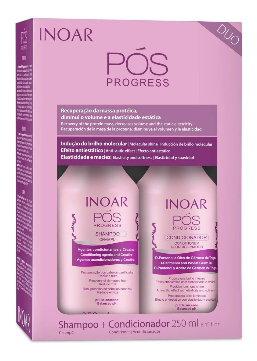 Inoar Duo POS Progress Shampoo And Conditioner Kit, 250 Ml