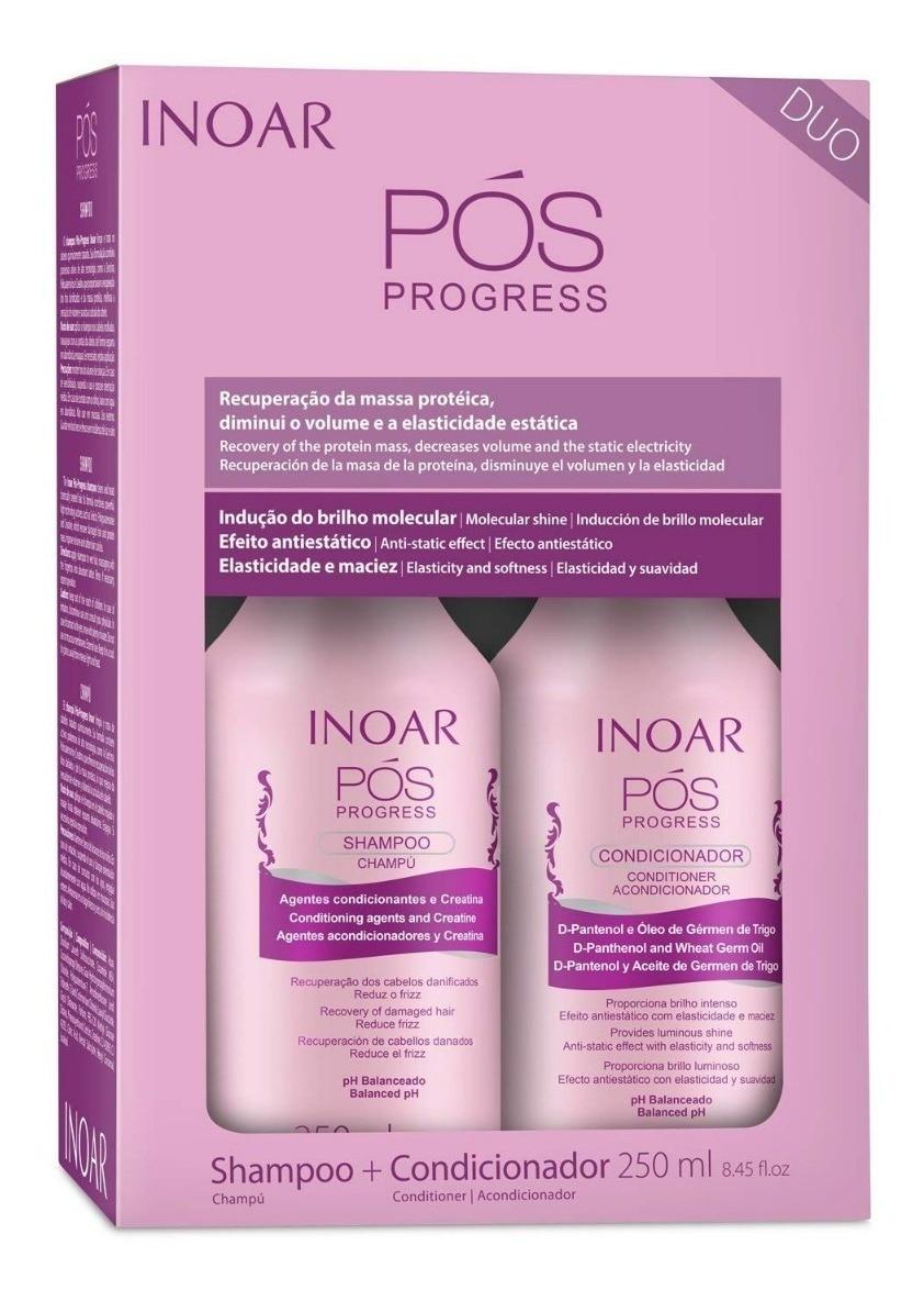 Inoar Duo POS Progress Shampoo And Conditioner Kit, 250 Ml