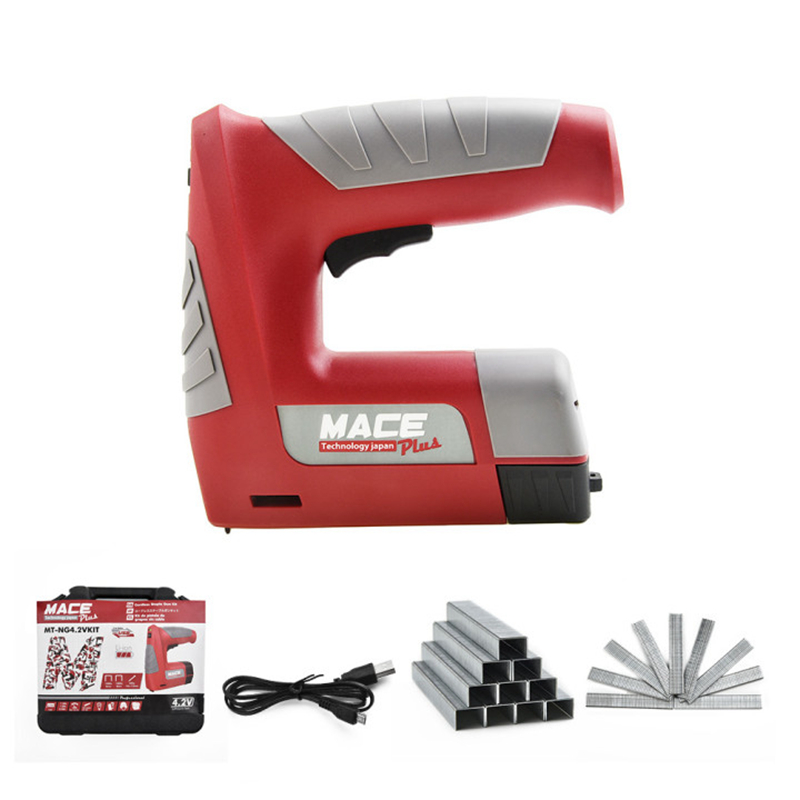 USB Nail Square Lithium Electric Stapler Gun Straight Gun Rechargeable Battery 2V Woodworking Staple Cordless Portable Tools 4