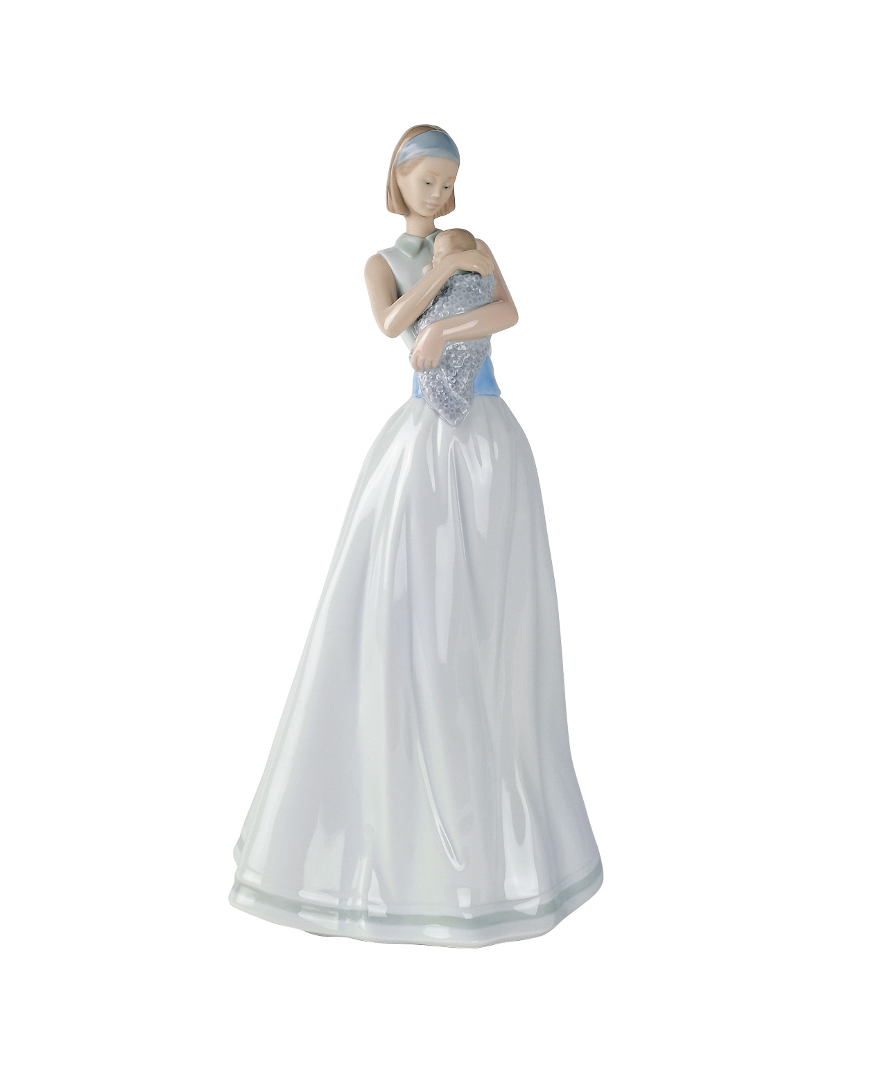 NAO Figure Joy Of My Life. Sculpture Decoration Breast, Mother's Day. Mother of Porcelain image