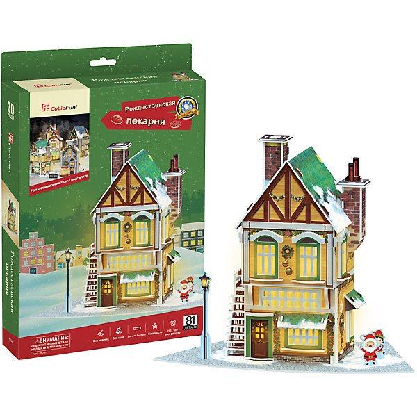 3D puzzle CubicFun Christmas bakery with backlight 4pcs girl set cubicfun 3d educational puzzle paper