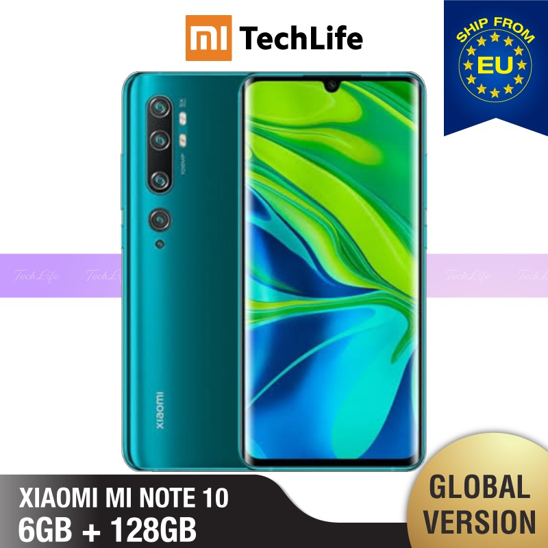 Global Version Xiaomi Mi Note 10 128GB ROM 6GB RAM (Brand New / Sealed) Note 10, Note10 Smartphone Mobile
