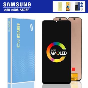 Original 6,4 A50 LCD para Samsung Galaxy A50 SM-A505FN/DS A505F/DS A505 LCD pantalla táctil digitalizador montaje con marco