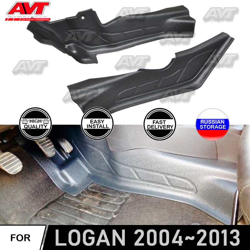 Protective Covers For Renault Logan 2004~2013 Of Inner Tunnel Sill Plates Car Styling Accessories Decor Dirt Protectection