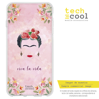 FunnyTech®Silicone Case for Samsung Galaxy S9 l Frida pink background characters designs illustrations 2