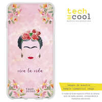 FunnyTech®Silicone Case for Wiko View 2 Plus L Frida Pink Background Characters Designs Illustrations 2