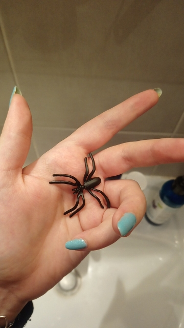 Halloween Decoration halloween costumes for woman 3D Creepy Black Spider Ear Stud Earrings for Haloween Party DIY Decoration