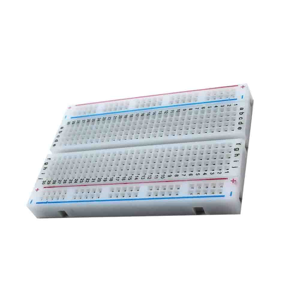 Taidacent 10 Pc 400 Point Breadboard Splicable Solderless Circuit Breadboard IC Test Board Experiment Board With Jumper