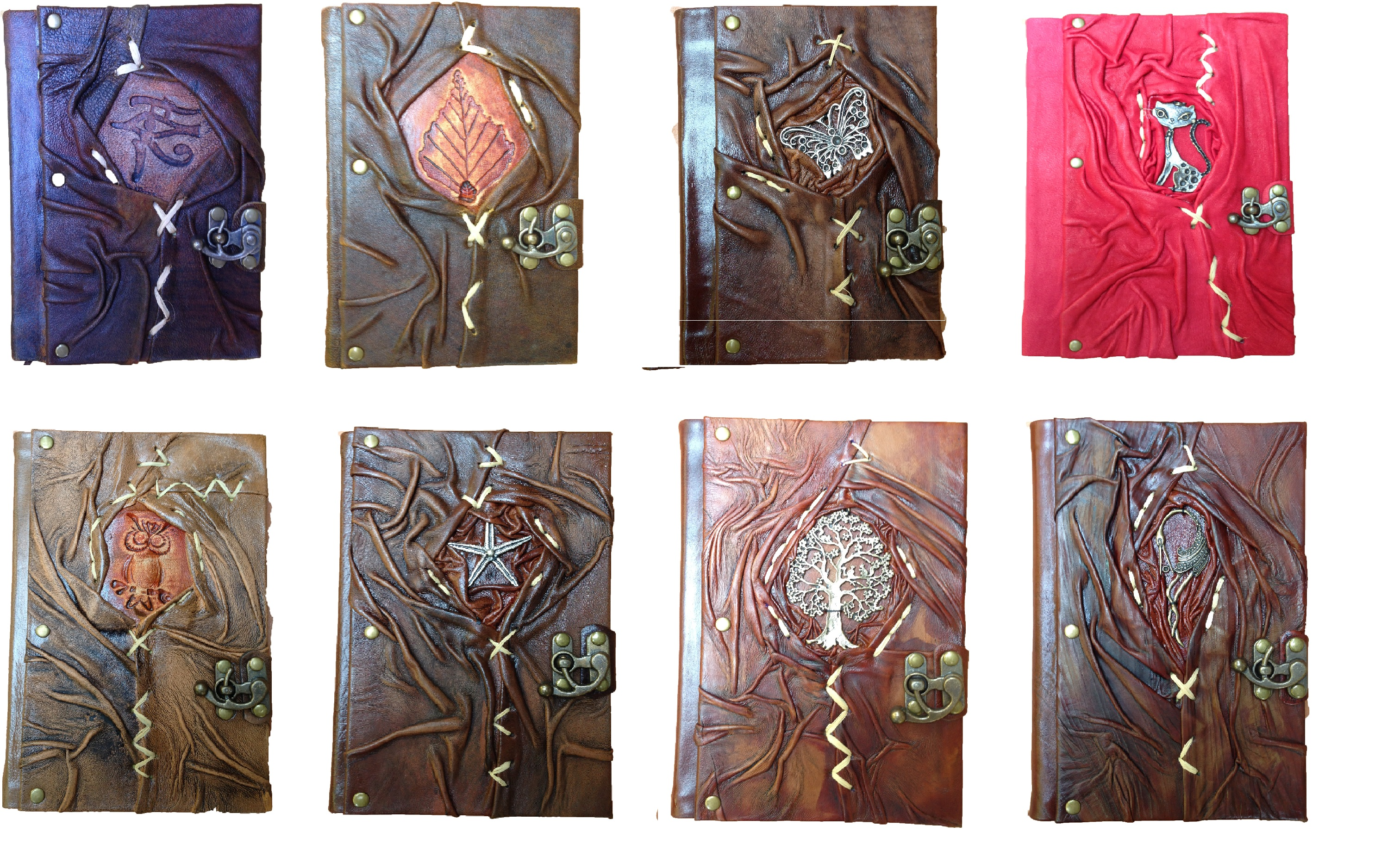 Genuine Real Vintage Leather Handmade paper Notebook Diary For Office Home and Gift forChristmas