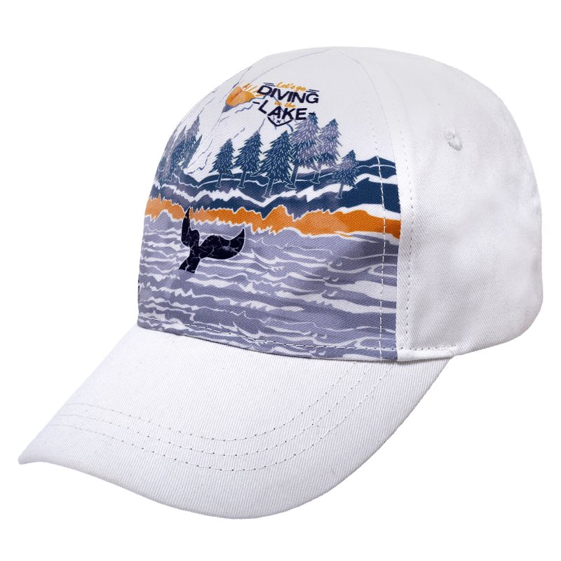 Baseball Cap Chicco, size 050, color Lake (White and Blue) unique numbers label adjustable baseball cap