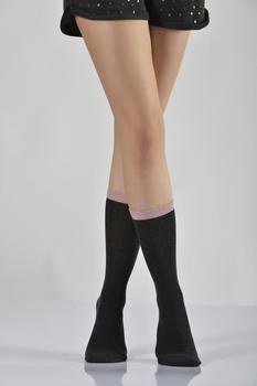 Idilfashion Women Bamboo Socket Stocking-Anthracite-B-ART044 (pakiet 3 #8217 LÜ) tanie i dobre opinie Lateks COTTON