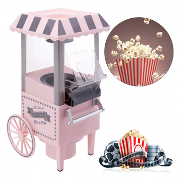 Popcorn Maker Machine 1200W 220V Household Healthy Hot Air Oil-Free Corn Popper Kitchen Mini EU US AU UK Movie Party Homemade 110 220v 32 grids commercial electric kanto cooking machine oden machine wooden anti scald spicy hot pot meatball eu au uk us