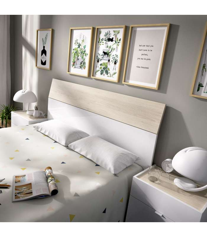 Set headboard + 2 side tables with two drawers GIA|  - title=