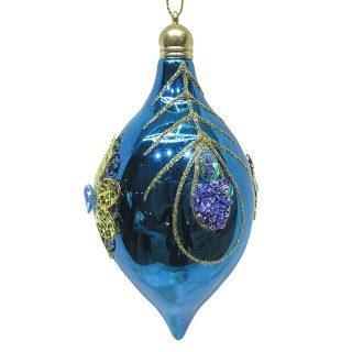 Набор ёлочных украшений, 7х14 см. 2 штуки, голубой цвет Новогодняя сказка 972923|Декоративные шары| | АлиЭкспресс
