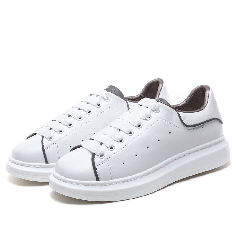 Crocodile Men&Women McQ Leather SKateboard Shoes Reflective Sneaker Sports Shoes Women Height Increase Off White Shoes Footwear