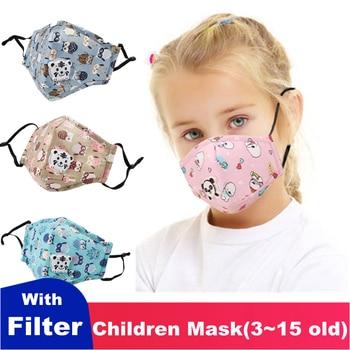 Kids Children Mask Respirator Protective Face Mask With Filter Valve Cartoon Mouth Mask Girl Boy Child Carton Tiger Valve