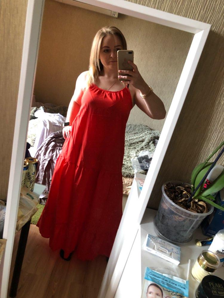 Bohemian Dress Women Summer Sexy Sleeveless Spaghetti Strap Ruffle Swings Maxi Long Dresses Holiday Vestido Plus Size photo review