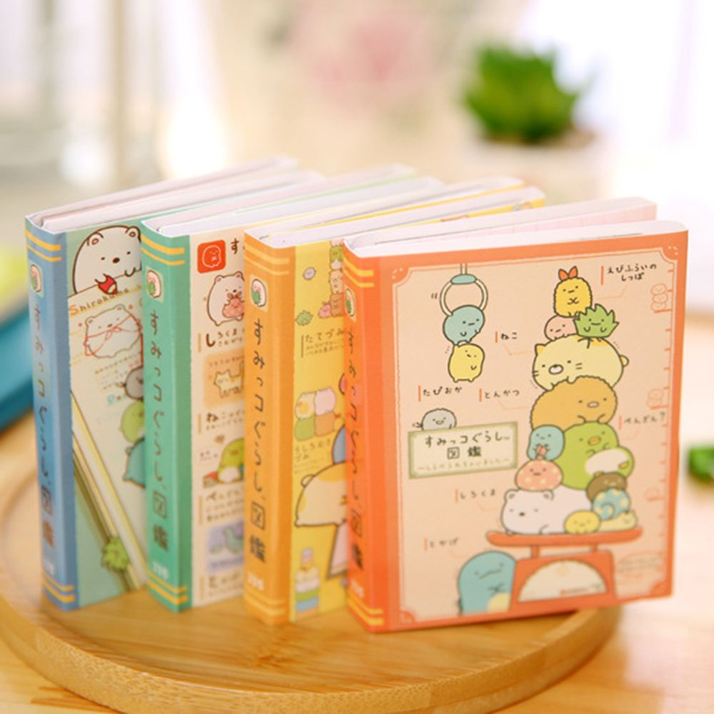 1PCS Creative Cartoon Corner Creature 4 Folding Memo Pad Sticky Notes Notepad Bookmark Stationery School Office Kids Wholesale