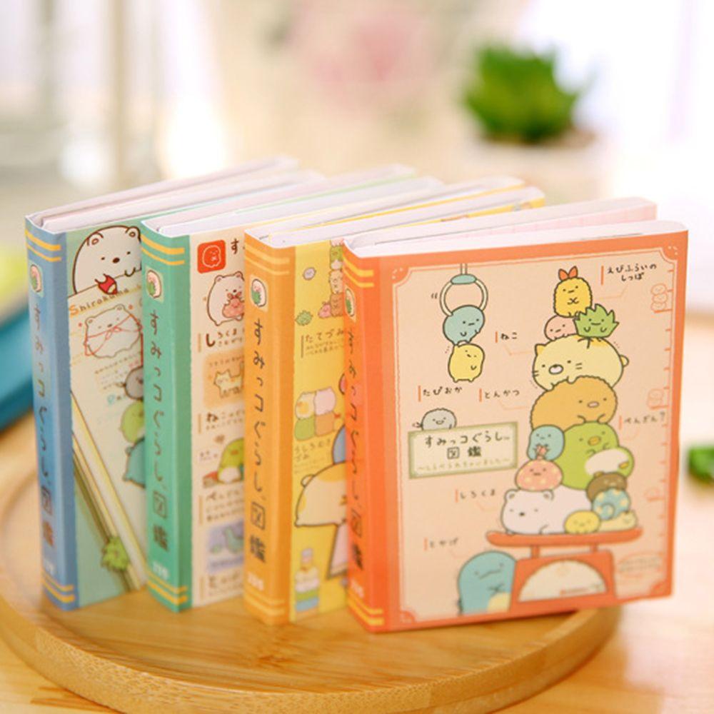 1PCS Creative Cartoon Corner Creature 4 Folding Memo Pad Sticky Notes Notepad Bookmark Stationery School Office Kids Wholesale