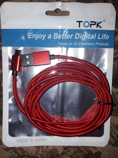 TOPK 1M 2M 2.4A Magnetic Micro USB Cable, Upgraded Nylon Braided LED Indicator USB Charge Cable for Micro USB Phones For Samsung|Mobile Phone Cables|   - AliExpress