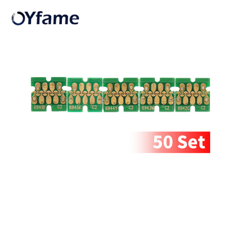 OYfame 50 Set Upgrade T6941-T6945 Cartridge Chip With one time chip For Epson SureColor T3000 T3070 T5070 T7070 T3200 Printer
