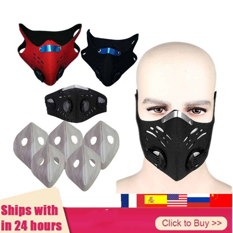 IN Stock Mascarillas Mask Cotton Mask For Woman Man  Mask Cloth Activated Carbon Filter With Valve