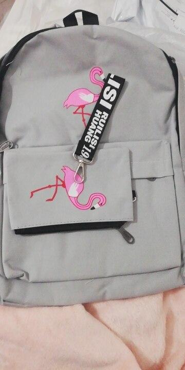 Mochilas Flamingo Impressão Meninas