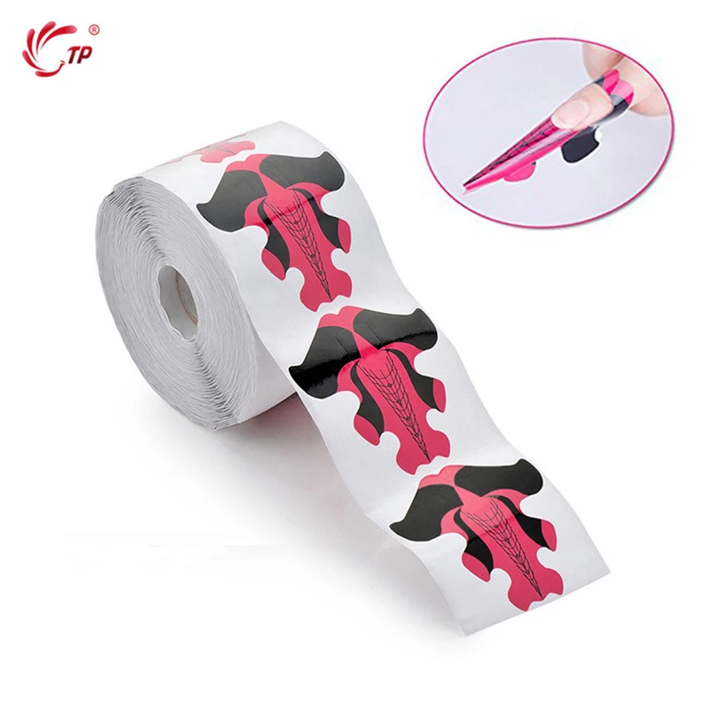 TP Stiletto Nail Extension Forms Stickers For Gel Acrylic Tips Extension Professional Nails System Builder Guide Stencil Design