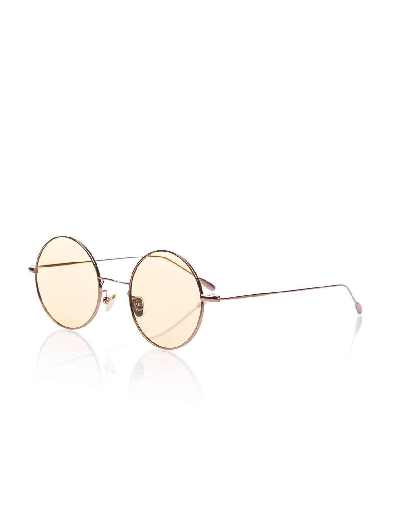 Unisex sunglasses opc 17014 06 metal yellow organic round round 50-22-145 optoline club
