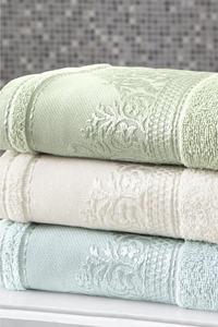 Fiesta Home % 100 Cotton Face Towel Sets 4pcs Bathroom Green White Blue Bath High Quality Made in Turkey