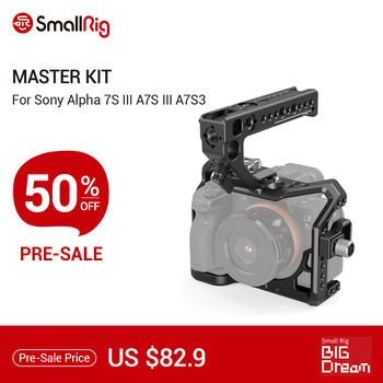 SmallRig Dslr Camera Cage A7S3 A7siii Master Kit For SONY Alpha 7S III Camera With NATO Rail Handle Video DIY Cage Kit Rig-3009