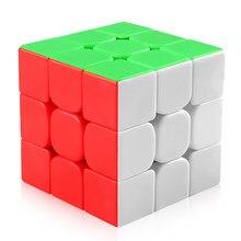 Coogam Mofang Jiaoshi Meilong 3x3 hız küp bulmaca oyuncak sihirli küp renkli Stickerless hediye çocuklar için yetişkin