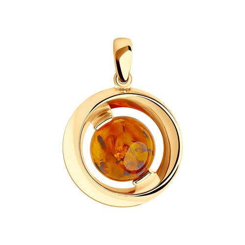 SOKOLOV Suspension Of Silver With Amber