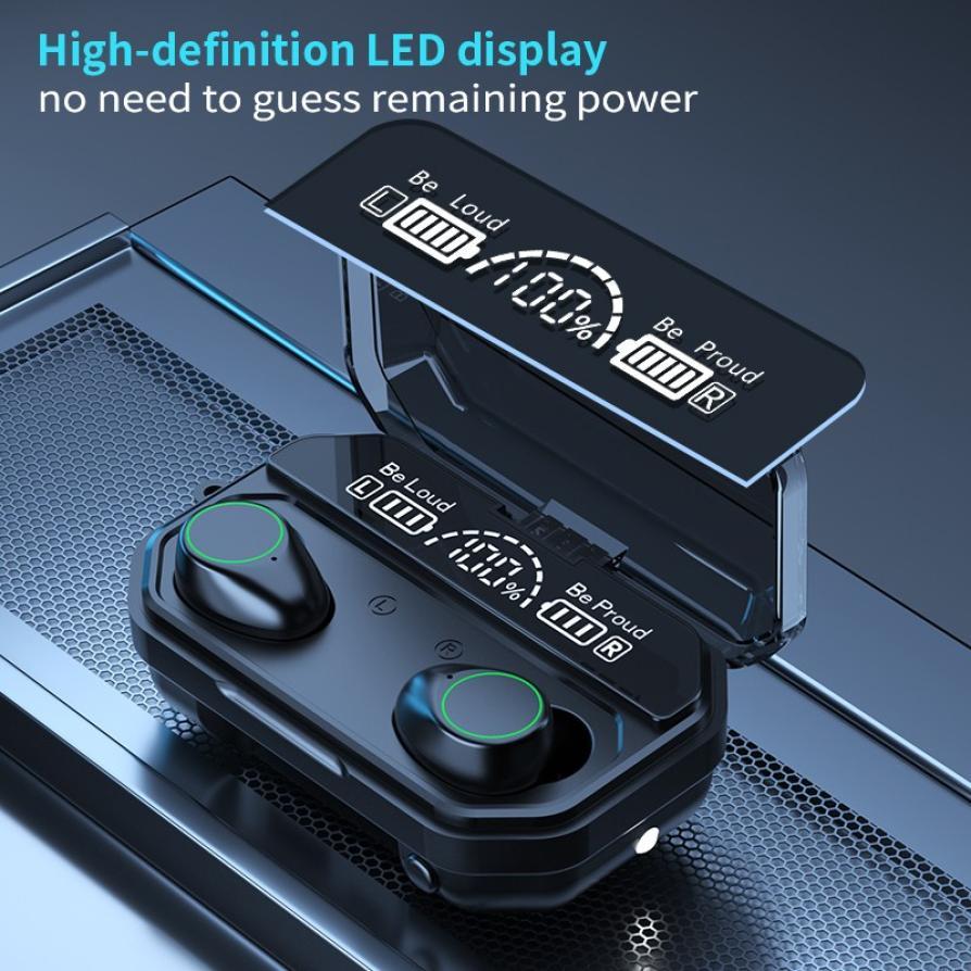cheapest 3500mAh LED Bluetooth V5 1 Wireless Earphones Earbuds TWS Touch Control Sport Headset Noise Cancel Earphone Headphone PK M11 M12