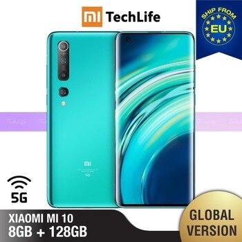 Купить Глобальная версия Xiaomi Mi 10 8 ГБ ОЗУ 128 Гб ПЗУ (абсолютно новый/Герметичный) mi10, mi 10 128, мобильный телефон, телефон, сСмартфоны