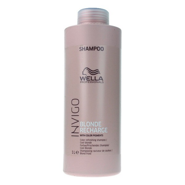 Shampoo For Blonde Or Graying Hair Invigo Blonde Recharge Wella (1000 Ml)