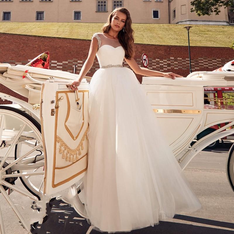 Verngo Ball Gown Wedding Dress Princess Wedding Gowns Lace-up Back Elegant Bride Dress Boho Robe De Mariee Vestido De Boiva 2019