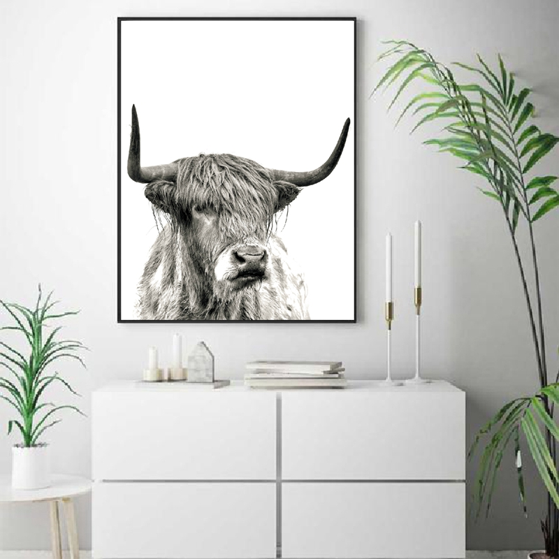 Highland Cow Wall Print