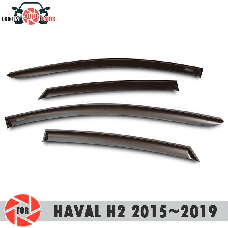 Deflector janela para HAVAL H2 2015 ~ 2019 chuva defletor sujeira proteção styling acessórios de decoração do carro de moldagem