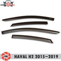 Deflector janela para HAVAL H2 2015 ~ 2019 chuva defletor sujeira proteção styling acessórios de decoração do carro de moldagem|Estilo de cromo| |  -